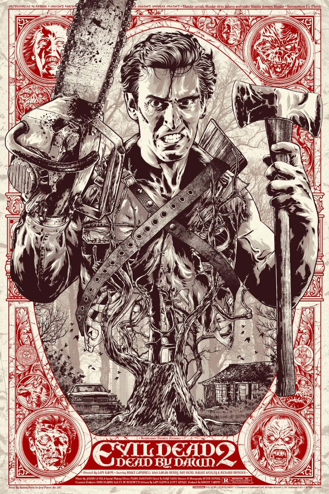 5228460aa4 The Blot Says...  Evil Dead 2 Screen Print by Anthony Petrie x Grey ...