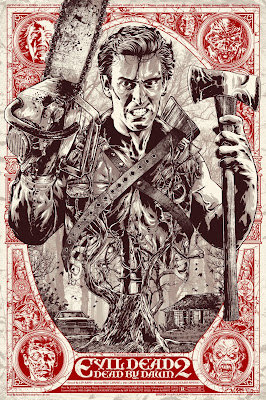 Evil Dead 2 Dead by Dawn Movie Poster Screen Print by Anthony Petrie x Grey Matter Art