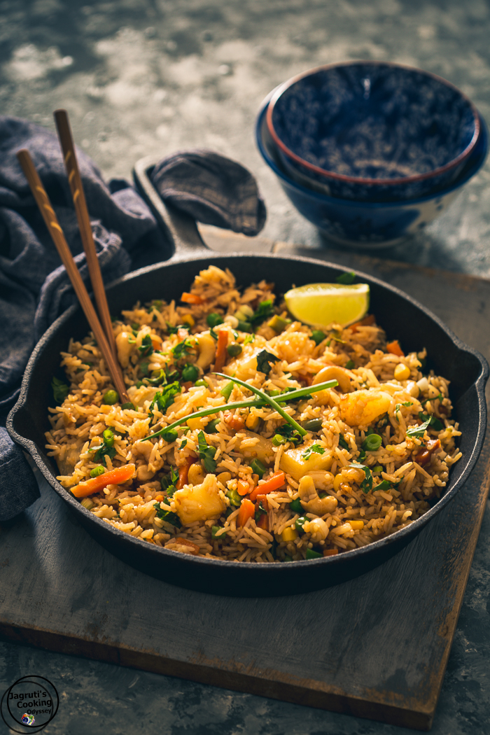 Easy to prepare Coconut, Pineapple Thai Fried Rice.