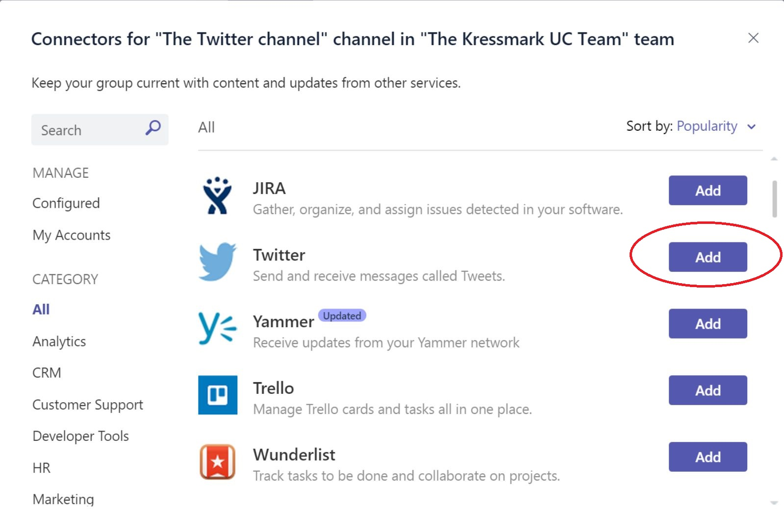 Kressmark Unified Communications: How to add twitter to your