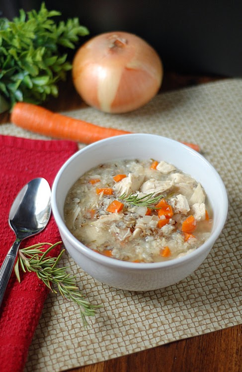 Healthy Skinny Crock pot Chicken Wild Rice Soup