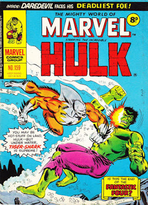 Mighty World of Marvel #159, Hulk vs Tiger Shark