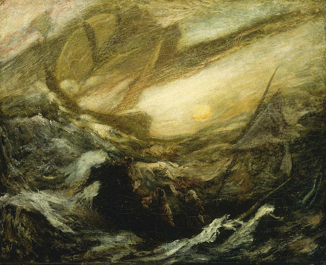 Albert Pinkham Ryder -The Flying Dutchman - c. 1896