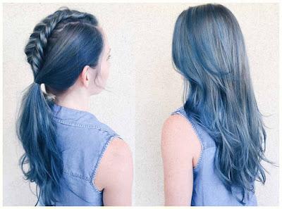 Denim Hair Color - 18 Best Hair Color Trend 2016