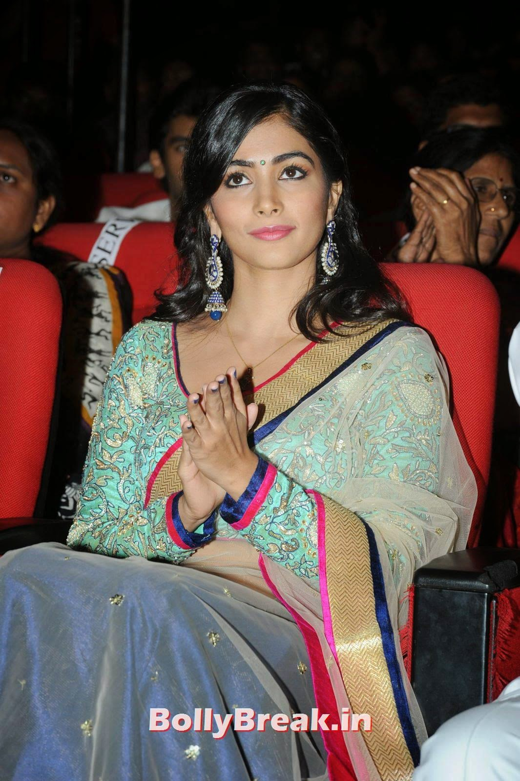 Actress Pooja Hegde Pictures, hot Pics of Pooja Hegde from Mukunda Movie Audi Launch