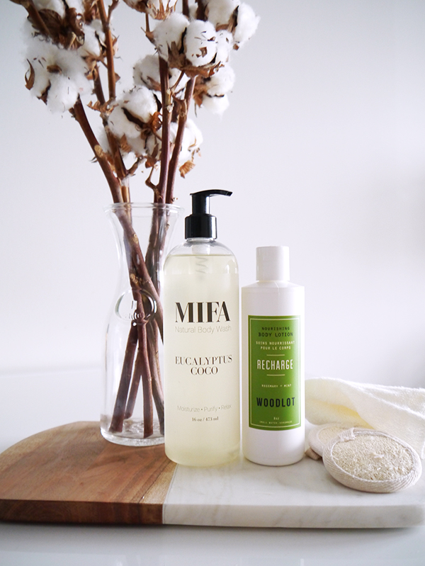 MIFA And Co Eucalyptus Coco Body Wash and Woodlot Recharge Body Lotion