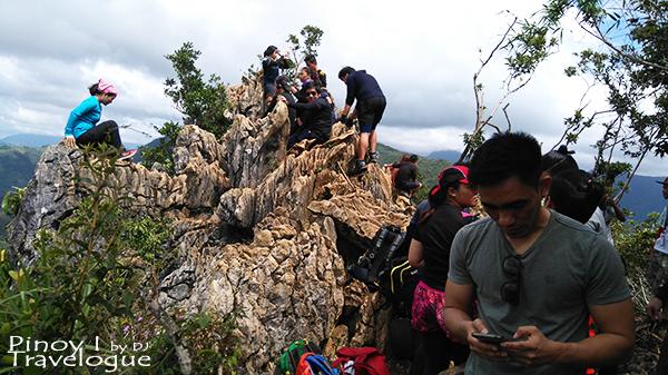 Enthralling imestone formation at Mt. Daraitan summit