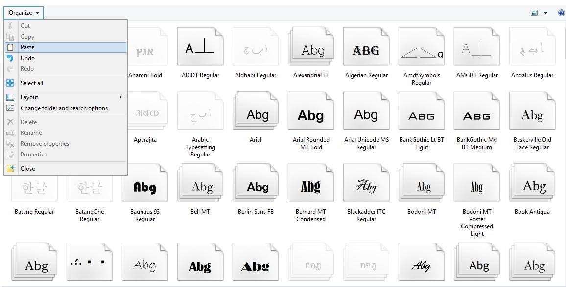 Cara Menginstal Font / Jenis Huruf Pada Windows 7 dan Windows 8