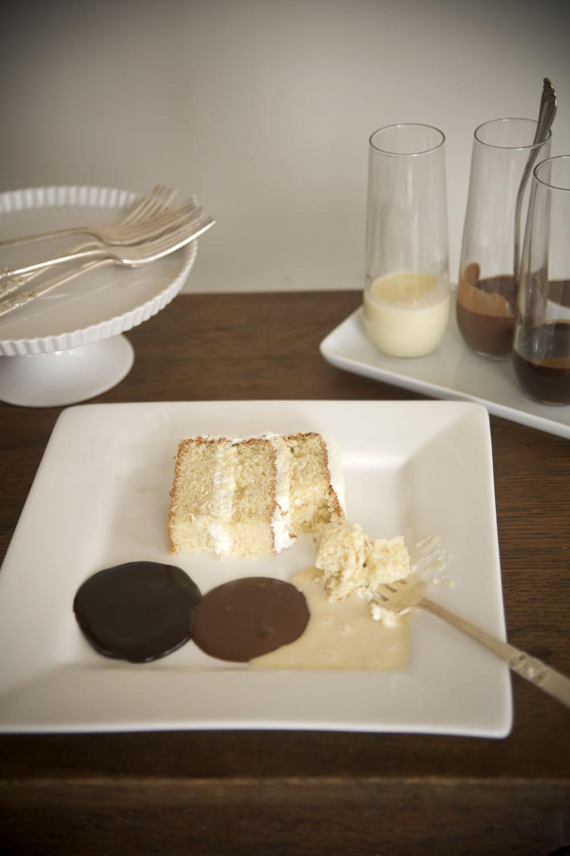 Toasted Almond Cake With Cannoli Cream