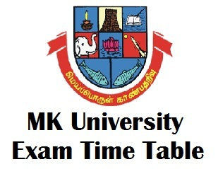 Madurai Kamaraj University Distance Education Time Table 2017