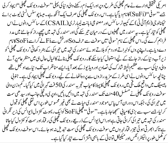 essay on robot in urdu
