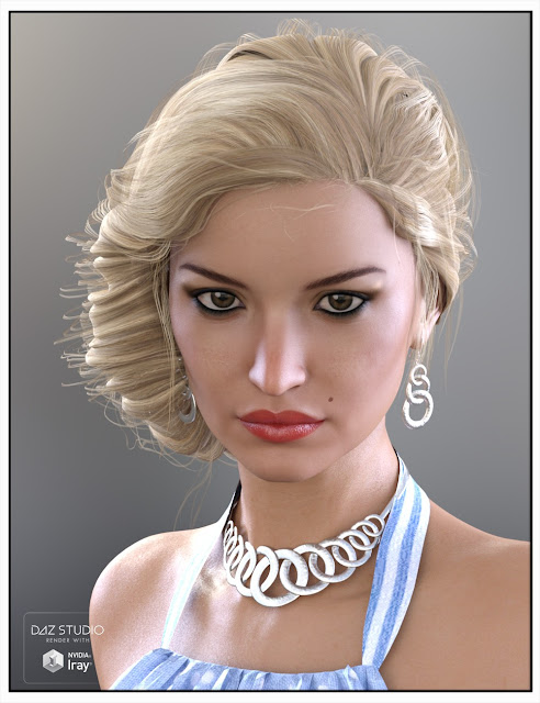 Baroness Hair for Genesis 3 Female