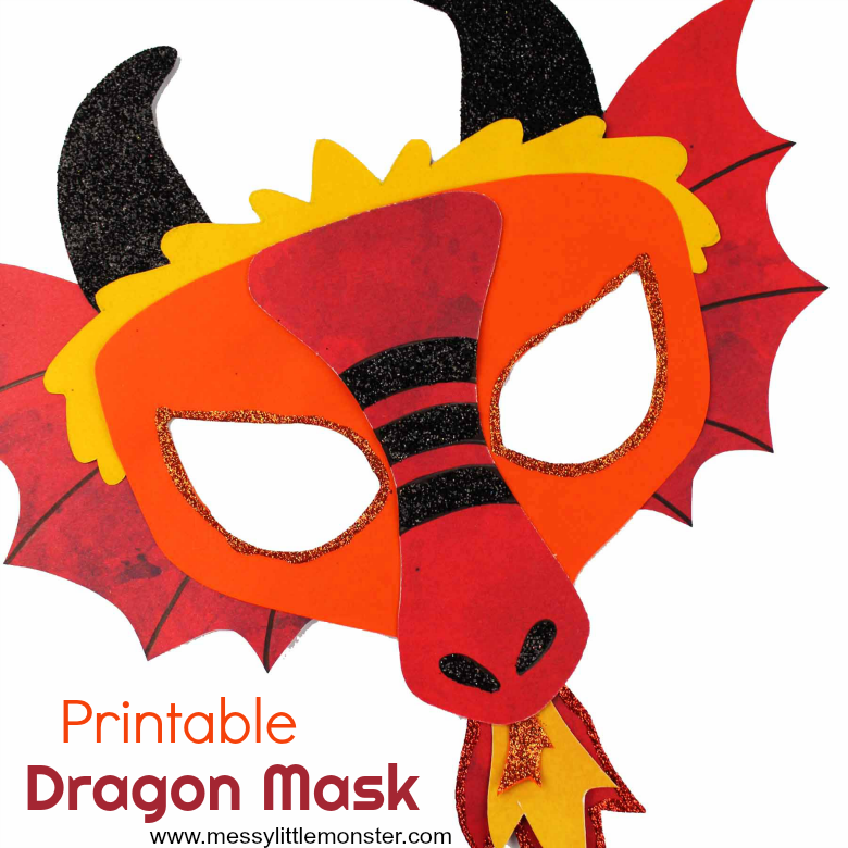 Chinese Dragon Mask A Fun Printable Dragon Craft Messy Little Monster