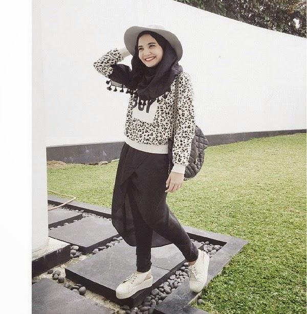 Kombinasi Gaya Mode Hijab Dan Topi Tren 2018 Yang Hits Spice