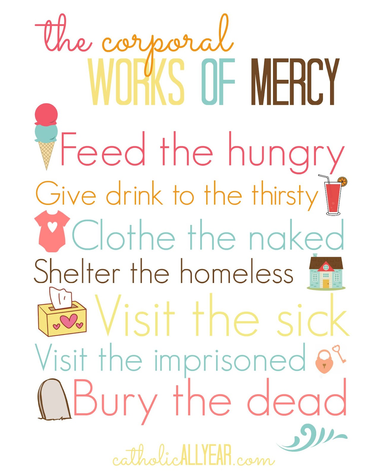 The year of mercy family challenge catholic all year bloglovin the corporal works of mercy are pretty straightforward but most take some planning and effort they put our focus on taking care of people physically fandeluxe Gallery