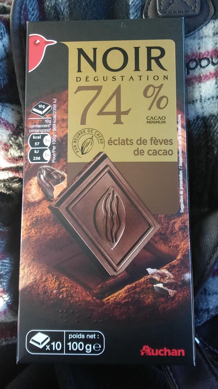 Auchan Noir Degustation - gorzka 74% z karmelizowanymi