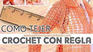 Cómo tejer Crochet con Regla / Punto Peruano / Tutorial