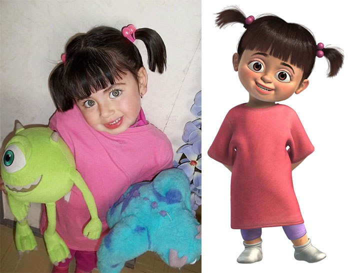 Little Girl Looks Like Boo From Monster