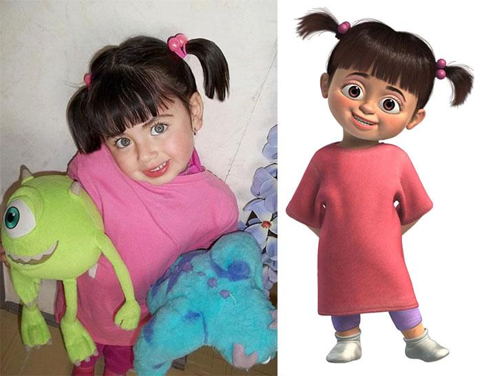 Little Girl Looks Like Boo From Monster