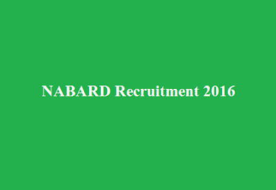NABARD Grade A and Grade B Recruitment 2016