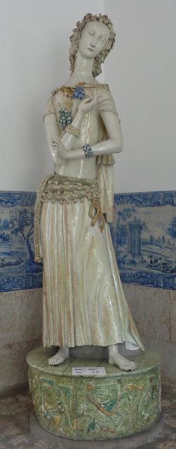 Figuras em azulejo no Museu da cidade de Lisboa
