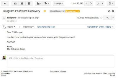 email penipuan login telegram