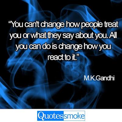M K Gandhi Life Quotes
