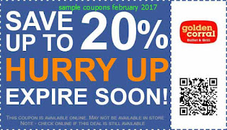 Golden Corral coupons for february 2017