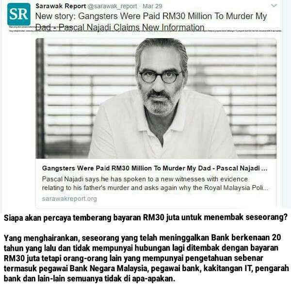 Selepas Memadam Posting Memfitnah Lawatan Najib Dan Rosmah Ke India, Satu lagi Fitnah Dari Sarawak Report