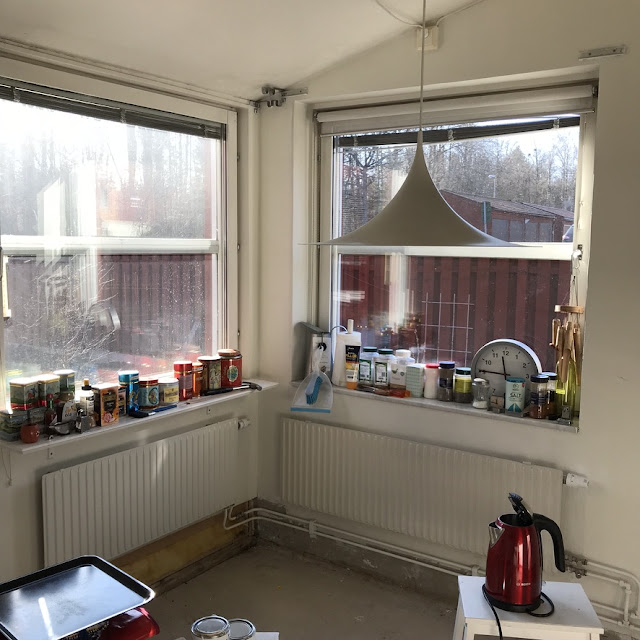 köksvägg, kitchenwall, antikvitt