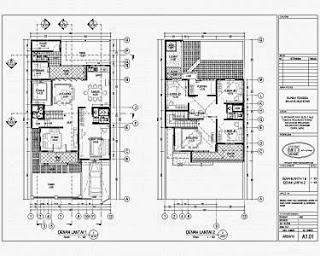 desain rumah 6x10 3 kamar tidur dengan kolam renang, yang