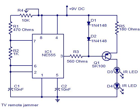TV remote Jammer - NE555