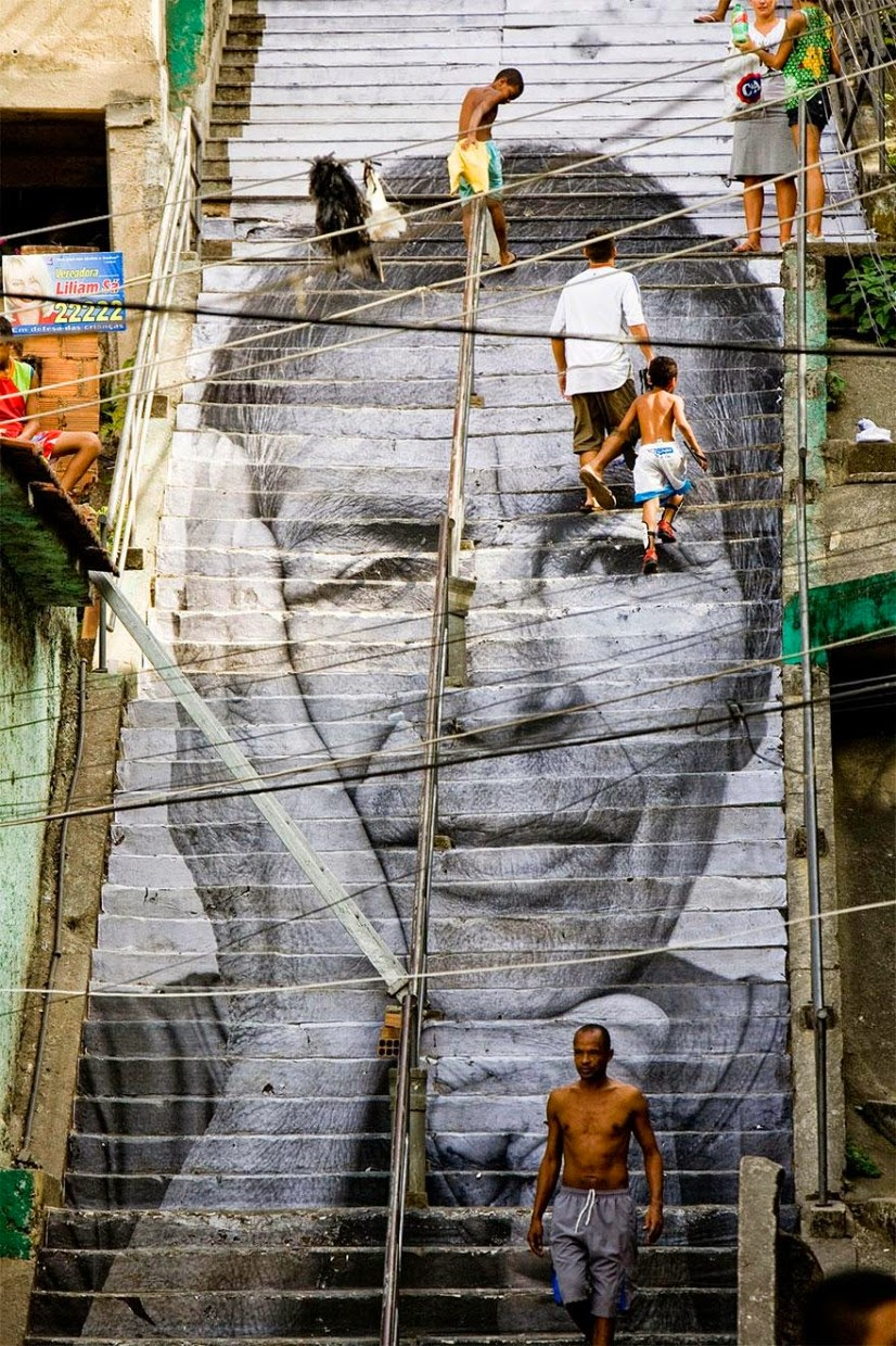 8. Rio de Janerio, Brazil - 17 Beautifully Painted Stairs From All Over The World. #7 Is Insane!