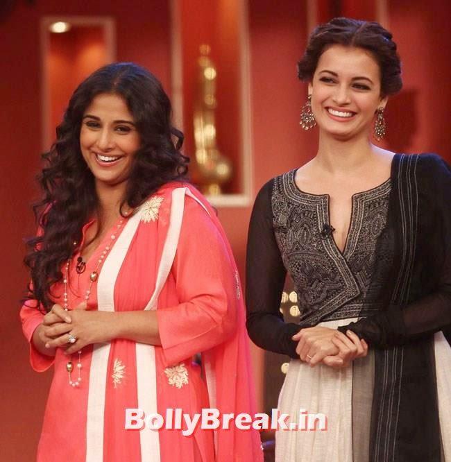 Vidya Balan and Dia Mirza, Vidya Balan, Dia Mirza Pics from Comedy Nights With Kapil