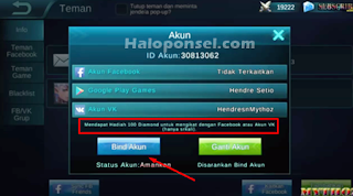 Cara cheat Diamond Mobile Legends di android work ampuh