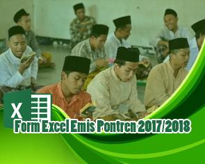 Form Excel Emis Pontren 2017/2018