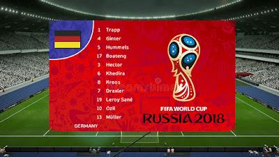 PES 2013 Scoreboard FIFA World Cup 2018 Russia