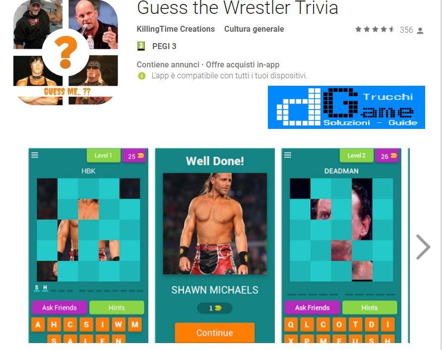 Soluzioni Guess the Wrestler Trivia | Tutti i livelli risolti con screenshot soluzione