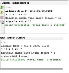 Tutorial Mencari Suatu Angka Menggunakan Sequential Search Java2