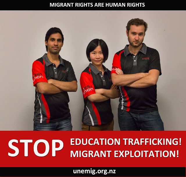 Stop Education Trafficking! Stop Migrant Exploitation!