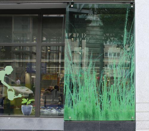 Decorative glass panels