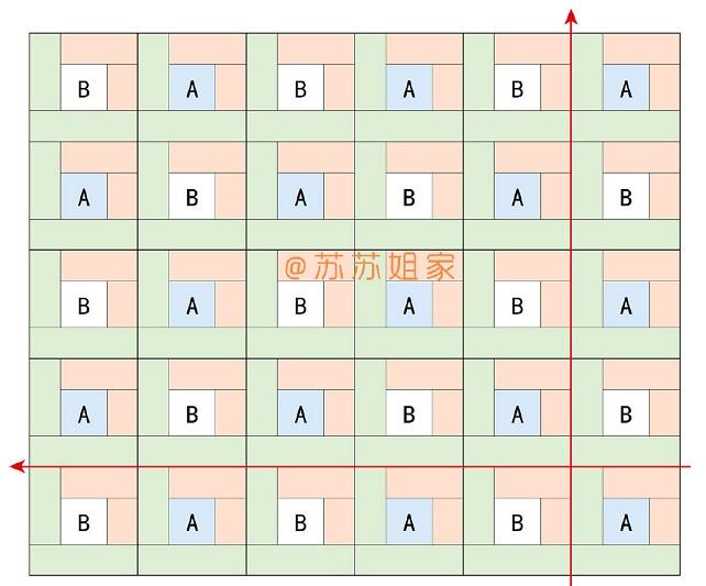 Схемы вязания спицами пледа «Пэчворк» (2)