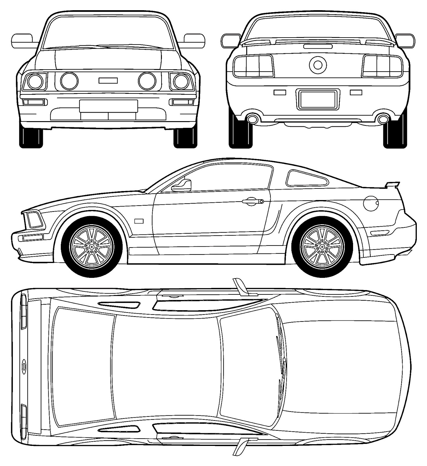 3d Auto Club Blueprints