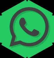 whatsapp hexagon icon