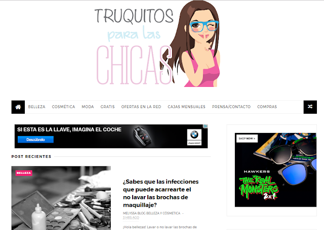 captura blog Truquitos para las chicas