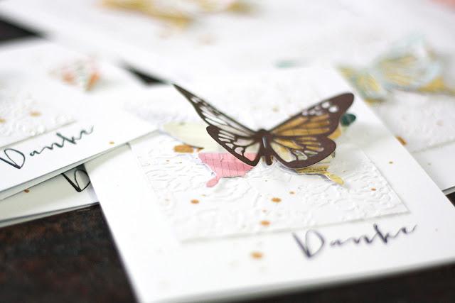 116 Schmetterlinge um mit Grußkarten Danke zu sagen |Trauerkarten beantworten | piecesforhappiness.blogspot.de