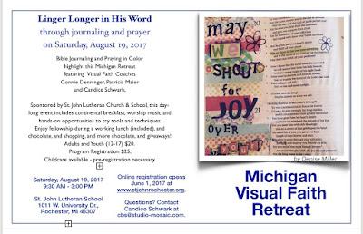 Final Countdown For Michigan Visual Faith Retreat
