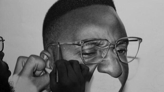 Asombrosos dibujos hiperrealistas a gran escala por Arinze Stanley
