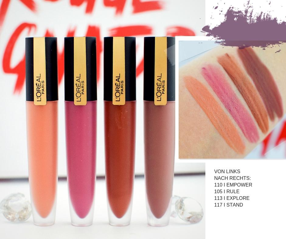 L'Oréal Paris Rouge Signature wie gut sind die neuen Farben?