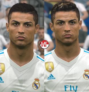 PES 2017 Faces Cristiano Ronaldo v2018 by WER Facemaker